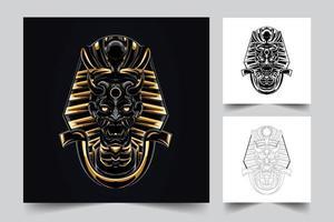 arte egípcia de satanás vetor