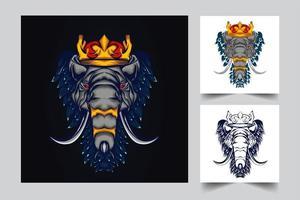 ilustração de arte de elefante vetor