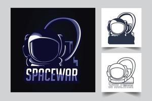 ilustração de arte espacial de astronauta vetor