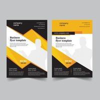 design de modelo de folheto corporativo vetor