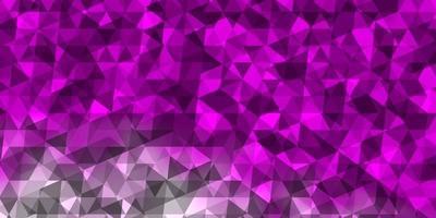 layout de vetor roxo claro, rosa com linhas, triângulos.