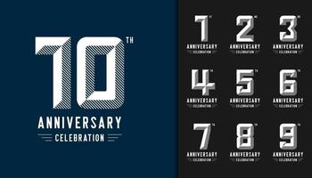 conjunto de logotipo de aniversário
