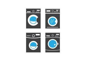 ilustração isolada do vetor do modelo do ícone da máquina de lavar