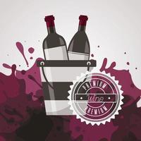 poster de vinho com garrafas
