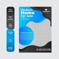 brochura de negócios corporativos de design de folheto imobiliário vetor
