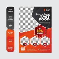 pôster de restaurante de comida saudável vetor