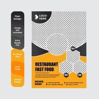 buffet de comida deliciosa brochura ou design de folheto vetor