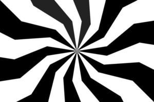 fundo espiral preto e branco, padrão radial em espiral, ilustração em vetor abstrato