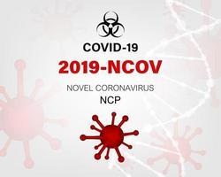 novo coronavírus 2019. vírus covid 19ncp. vetor