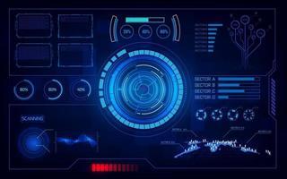 modelo de plano de fundo do conceito de inovação de tecnologia de computação futurista hud ui