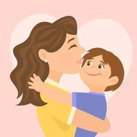 mãe e filho com amor vetor