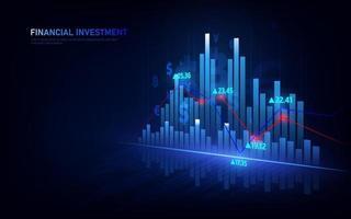mercado de ações ou gráfico de negociação forex no conceito gráfico adequado para investimento financeiro ou negócios de tendências econômicas. vetor