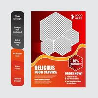 modelo de menu de restaurante vetor