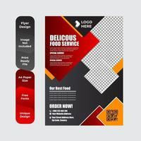 modelo de folheto para panfleto comercial de restaurante de café da manhã vetor