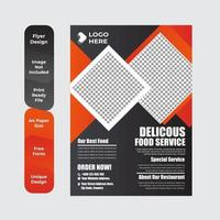 modelo de pôster de restaurante de comida saudável vetor