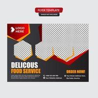 modelo de mídia social de hambúrguer de fast food vetor