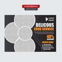 modelo de design de cartaz de restaurante de comida saudável vetor