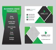 modelo de cartão de nome de cartão de visita empresarial verde vetor