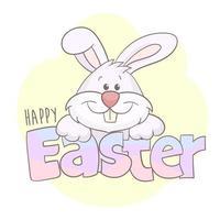cartão do coelho da páscoa vetor