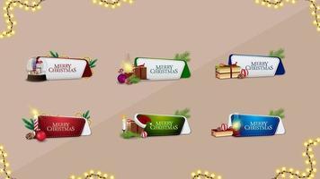 grande coleção de adesivos de site de Natal com elementos de Natal. adesivos de natal para o seu site