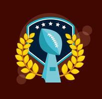 pôster de esporte de futebol americano com troféu