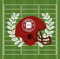 pôster esportivo de futebol americano com capacete vetor