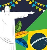 projeto celebração do carnaval brasileiro vetor