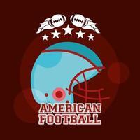 pôster esportivo de futebol americano com capacete