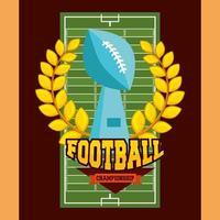 pôster de esporte de futebol americano com troféu vetor