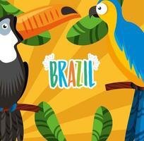 celebração do carnaval brasileiro com letras e tucano