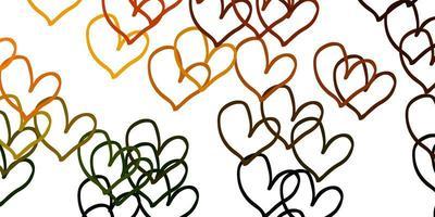 textura amarela clara com corações