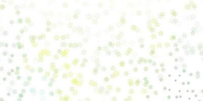 arte abstrata verde-clara e amarela com flores