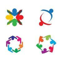 imagens do logotipo do trabalho em equipe vetor