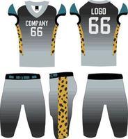 modelo de ilustração de uniformes de futebol americano de design personalizado vetor