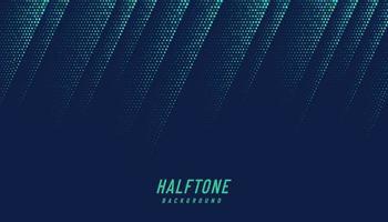 textura de meio-tom diagonal abstrato verde e azul em fundo azul escuro com espaço de cópia. design de padrão dinâmico futurista. padrão de pontos simples moderno. ilustração vetorial vetor