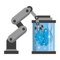 cartoon conceito de ícones de inteligência artificial