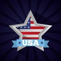 feliz dia dos presidentes pôster com a bandeira na estrela