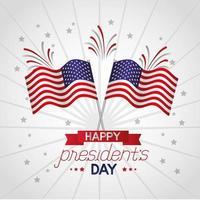 cartaz de comemoração do feliz dia dos presidentes com bandeiras dos EUA