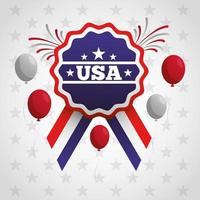 pôster de celebração do dia do presidente com bandeira e balões