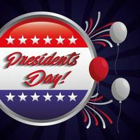 cartaz de celebração do feliz dia dos presidentes com carimbo do selo da bandeira