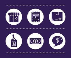 pacote de ícones comerciais vetor