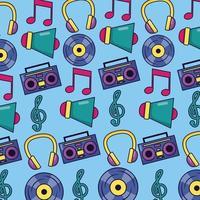 fundo de padrão de música