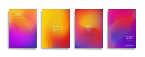 brilhante gradiente cor linha abstrata padrão fundo design da capa. design moderno do fundo com cores vibrantes na moda e vivas. modelo de capa de vetor cartaz cartaz azul violeta vermelho laranja verde.