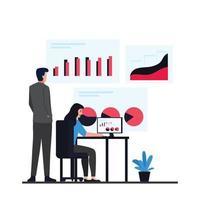 ilustração de informação de dados