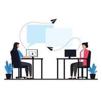 ilustração do conceito de chat online vetor