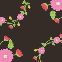 fundo de cartão de pôster decorativo floral