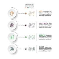 5 etapas para apresentar e relatar resultados, incluindo a explicação do fluxo de trabalho de um negócio ou organização. infográfico de vetor. vetor
