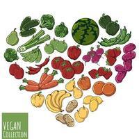 vetor coração vegetal