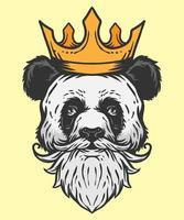 ilustração do rei do panda vetor