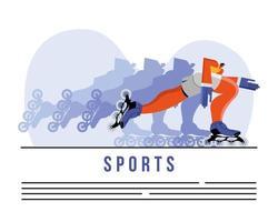 atleta praticando skate esporte modelo de banner vetor